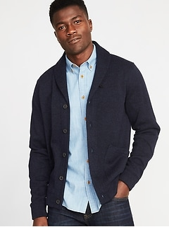 Shawl-Collar Sweater-Fleece Cardigan for Men