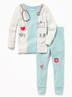 Doctor-Graphic Sleep Set for Toddler & Baby