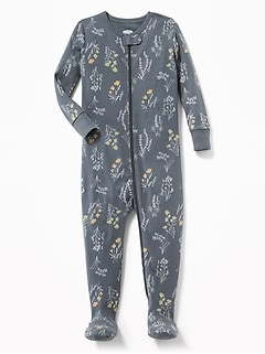 Floral Footed Sleeper for Toddler Girls & Baby