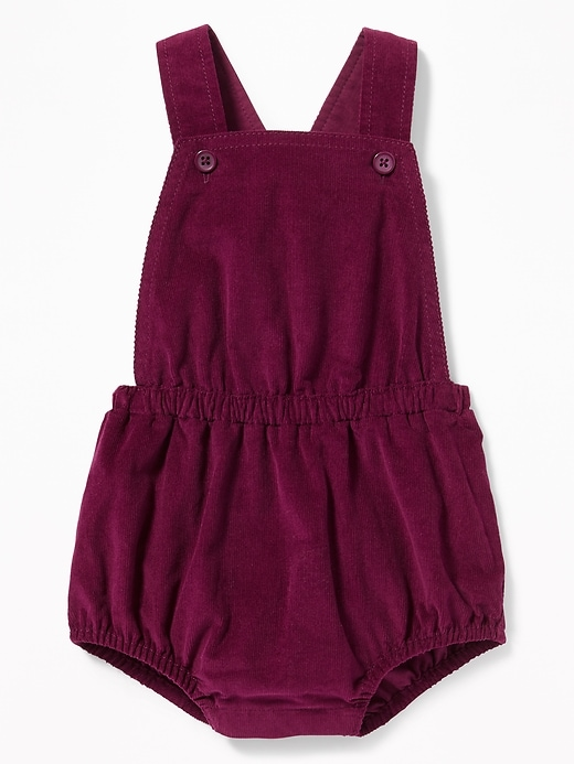 Apron Front Corduroy Bubble Romper For Baby by Old Navy