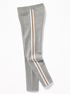Ponte-Knit Side-Stripe Stevie Leggings for Girls