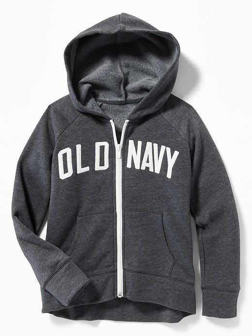 Logo Graphic Zip Hoodie For Girls by Old Navy