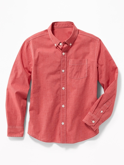 3fbb0650 Shoptagr | Built In Flex Classic Poplin Shirt For Boys by Old Navy