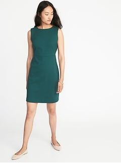Sleeveless Ponte-Knit Sheath Dress for Women