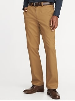 Straight Ultimate Built-In Flex Non-Iron Chinos for Men