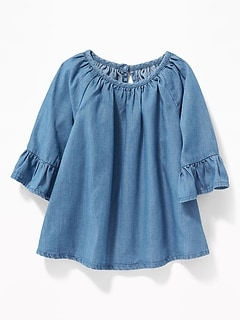 Ruffle-Sleeve Peasant Top for Baby