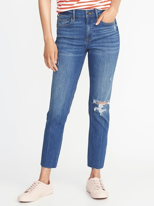 The Power Jean A.K.A. The Perfect Straight Ankle For Women by Old Navy