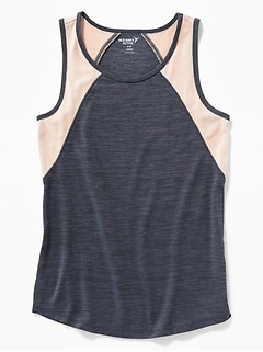 Go-Dry Color-Blocked Tank for Girls