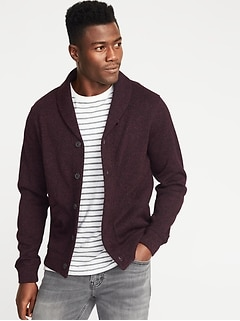 Shawl-Collar Cardigan for Men