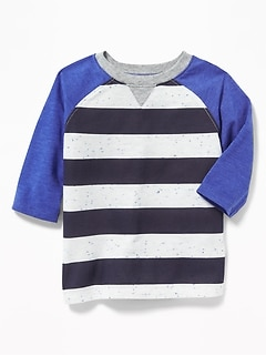 Striped Raglan Tee for Toddler Boys