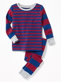 Striped Sleep Set for Toddler Boys & Baby