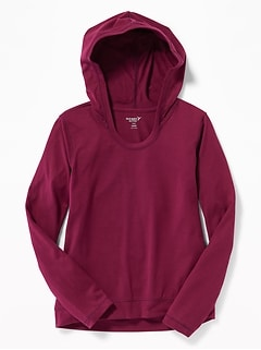 Lightweight Performance Tee Hoodie for Girls