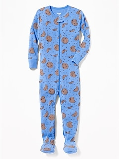 Cookie-Print Footed Sleeper for Toddler & Baby