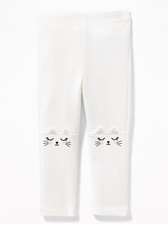 French Terry Critter Leggings for Toddler Girls