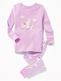 Llama Sleep Set for Toddler Girls & Baby