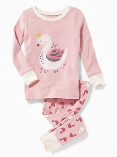 Swan Sleep Set for Toddler Girls & Baby