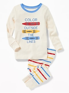 """Color Outside the Lines"" Sleep Set for Toddler & Baby"