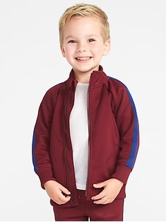 Retro-Stripe Zip Track Jacket for Toddler