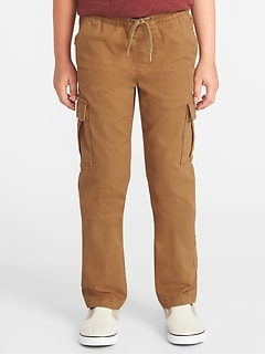 Relaxed Slim Elasticized-Waist Cargos for Boys