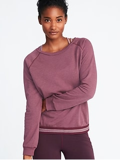 Relaxed Exposed-Elastic French-Terry Sweatshirt for Women