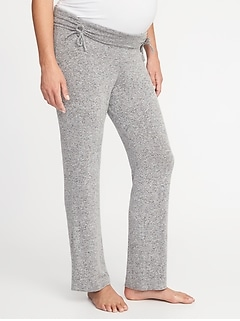 Maternity Luxe Cinched-Waist Lounge Pants