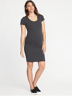 Maternity Scoop-Neck Bodycon Dress