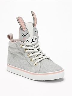 Felt Bunny High-Tops For Toddler Girls