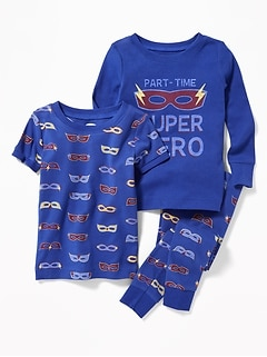 """Part-Time Super Hero"" 3-Piece Sleep Set for Toddler & Baby"