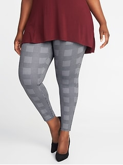 High-Rise Glen Plaid Plus-Size Stevie Pants