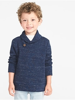 French-Rib Shawl-Collar Pullover for Toddler Boys