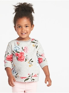 Relaxed Printed Sweatshirt for Toddler Girls