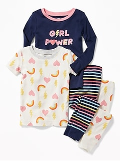 """Girl Power"" 4-Piece Sleep Set for Toddler Girls & Baby"