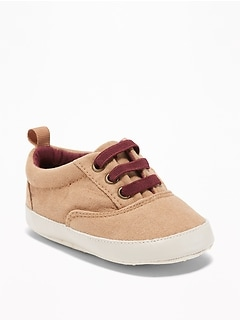 Sueded Low-Top Sneakers for Baby