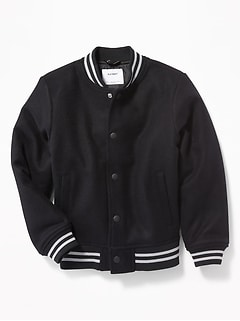 Snap-Front Bomber Jacket for Boys