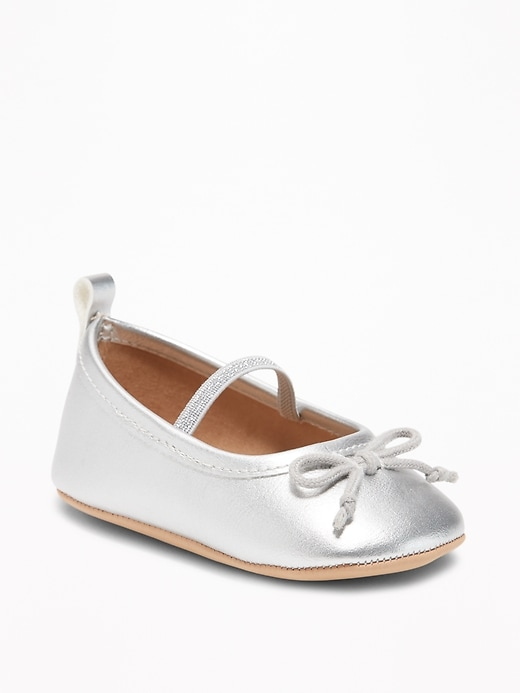 Metallic Faux Leather Ballet Flats For Baby by Old Navy