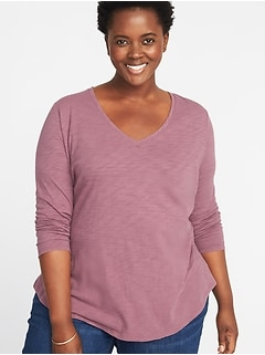 EveryWear Plus-Size V-Neck Tee