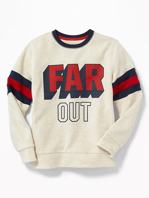 Graphic Sleeve Stripe Sweatshirt For Boys by Old Navy