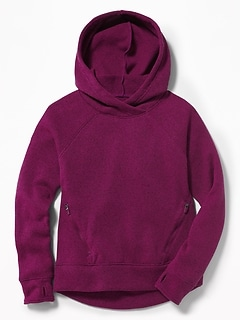 Go-Warm Relaxed Sweater-Knit Hoodie for Girls