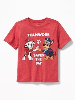 "Paw Patrol&#153 ""Teamwork Saves the Day"" Tee for Toddler Boys"