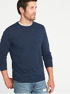 Heathered Crew-Neck Sweater for Men