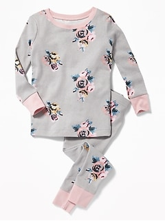 Floral Sleep Set for Toddler Girls & Baby