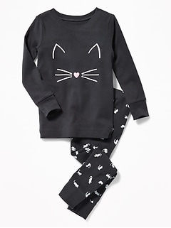 Cat-Graphic Sleep Set for Toddler & Baby
