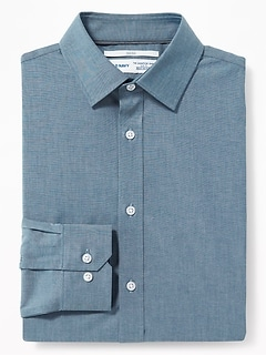 Slim-Fit Built-In Flex Signature Non-Iron Shirt for Men