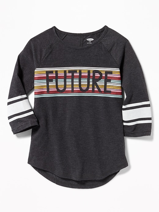 Graphic 3/4-Sleeve Tunic Tee for Girls