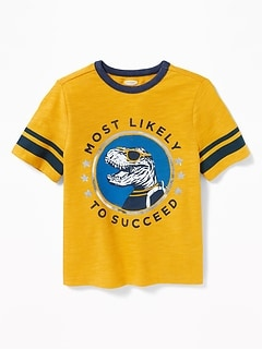 Graphic Football-Style Tee for Toddler Boys