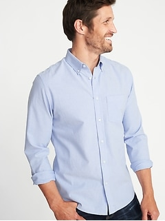 Slim-Fit Built-In Flex Everyday Oxford Shirt For Men