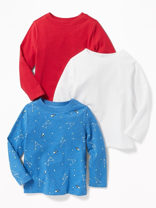 Crew-Neck Tee 3-Pack for Toddler Boys