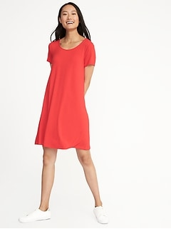 Jersey-Knit Swing Dress for Women