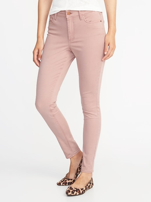 High-Rise Sateen Rockstar Pop-Color Jeans for Women
