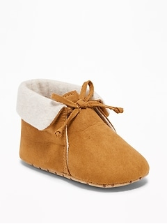 Sueded Cuffed Moccasins for Baby